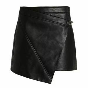 NWT🌟Blank NYC Asymmetric Faux Leather Wrap Skirt